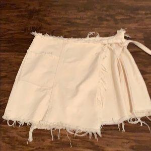 White denim urban outfitters skirt